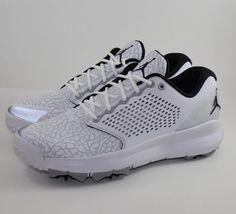 49d4c029267 Nike Air Jordan Trainer ST G Golf Shoe White Black Wolf Grey AH7747-100  Size 11