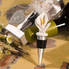 Calla Lily Wine Bottle Stopper Favors BULK DISCOUNT
