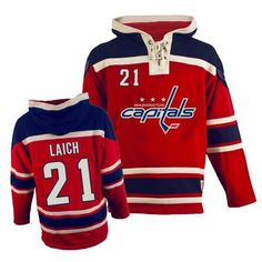 36d2a46f4 Authentic Brooks Laich Red Men s NHL Jersey   21 Washington Capitals Old  Time Hockey Sawyer