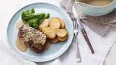 BBC Food - Recipes - Steak with peppercorn sauce