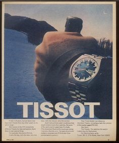 Tissot 1971 Advertisment PR516GL · Watch Archive · Vintage Watches by SomeTimeAgo... Just like mine, only my PR516GL only has date an goes back to Feb-1972