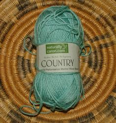 Naturally Caron.com Country Merino Wool Blend Yarn Made in Turkey Color No 0005 Lot No 1073069 Ocean Spray Cyan Crochet Knit by…