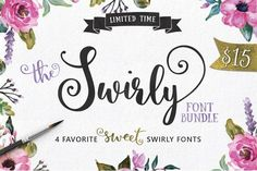 Download for Free I made these preview images for Emily Spadoni's free font, Smoothie Shoppe. It's a great and super flexible font that is freely available for