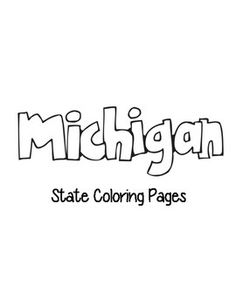 Michigan State outline Coloring Page. Copy the image and paste ...