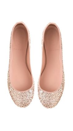Sparkle ballet flats - would be cute for a tall bride too