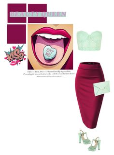 """""""beauty queen"""" by mimas-style ❤ liked on Polyvore featuring H&M, Forever 21, Mojo Moxy, women's clothing, women's fashion, women, female, woman, misses and juniors"""