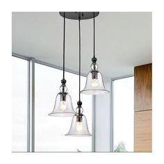 Winston Porter Montezuma 3 - Light Cluster Bell Pendant & Reviews   Wayfair Island Lighting, Kitchen Lighting, Pendant Lighting, Chandelier, Montezuma, Dining Room Table, Ceiling Lights, Home Decor, Candelabra