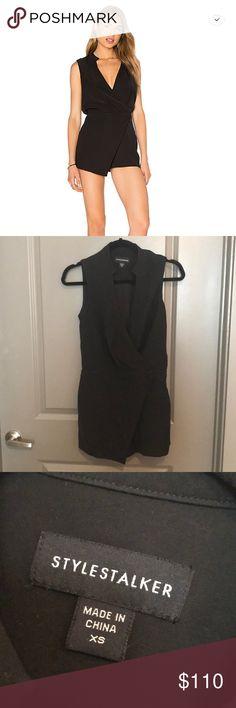 Stylestalker black romper Cute black romper from Revolve / StyleStalker / Size XS but fits more like a small / never worn! Stylestalker Dresses Mini