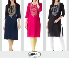 Get this Cotton Fabric Kurtis at just Rs only at Muta Fashions. Fits Upto XL this kurtis are ideal for summers. Call, DM or Whatsapp at 9712751949 Kurti Embroidery, Facebook Instagram, Kurtis, Girls Out, Girl Fashion, Cotton Fabric, Cold Shoulder Dress, Fitness, Clothing