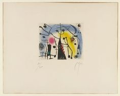 Joan Miró, The Magdalenians (1958).
