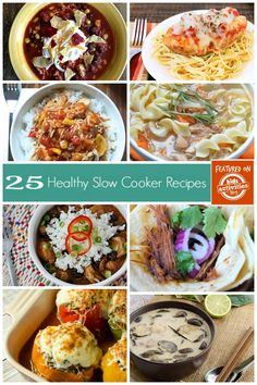 I love crockpot meals, and these 25 healthy slow cooker recipes are being added to my cooking arsenal.