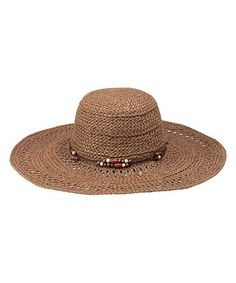 Another great find on #zulily! Brown Whitney Sunhat by Peter Grimm Hats #zulilyfinds