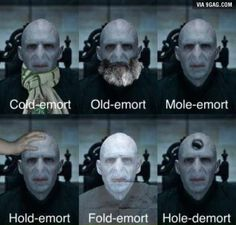 The many shades of the Dark Lord