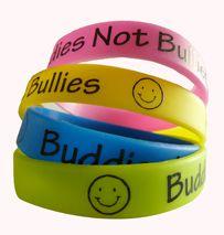 Buddies Not Bullies Wristbands - Anti Bullying Wristbands http://promocorner.com.au/silicone-wristbands/