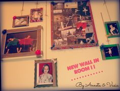 Our New Wall in Room ! ! Made by old photos # tuille # twines # pearls # & fantasy !!