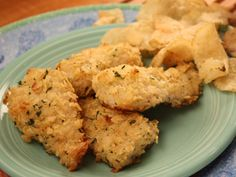 Chicken and Chips - with a delicious coating of sour cream-and-onion potato chips | mrfood.com