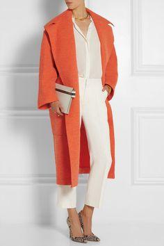 Bright-orange bouclé, orange textured-felt Slips on 34% virgin wool, 29% wool, 15% alpaca, 13% polyamide, 9% mohair; pocket lining: 100% viscose Dry clean Designer color: Tangerine