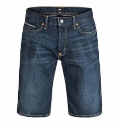 Worker Straight Denim Shorts Light stone - Straight Fit Shorts für Männer  Wir präsentieren dir stolz Worker Straight Denim Shorts Light stone von DC Shoes. Diese Straight Fit Shorts mit Hosenschlitz mit Knöpfen für Männer sind Teil der Spring Collection 2015. Weitere besondere Features sind: Metallnieten und ein DC Label Patch.  Merkmale:  Straight Fit Shorts, 12 Oz. unelastischer indigoblauer...