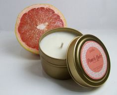 Pomelo Dulce 4oz tin// Grapefruit, Mango // Hand-Poured Natural Soy Candle