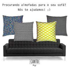 Olha só que composição linda de almofadas em padrão geométrico para deixar sua sala mais moderna?? Encontre a sua almofada na nossa loja online, corre lá: www.cantodesign.com.br #cantodesign #almofadalinda #almofadas #instadecor #instahome #lojavirtual #lojaonline #geométrico #estampageometrica