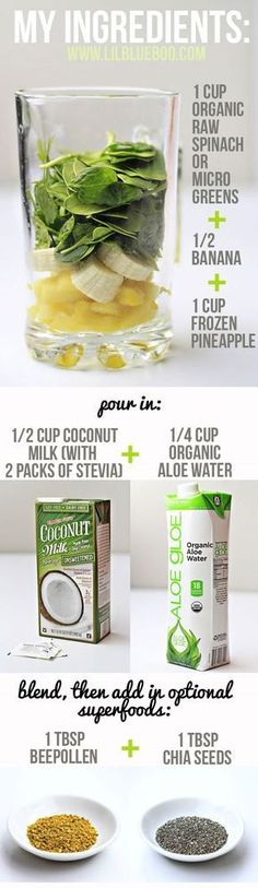 Green Colada Smoothie - Easy fruit smoothie recipe from LilBlueBoo #weightlossmotivation