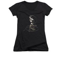 Bettie Page - Whip It! Junior V-Neck T-Shirt