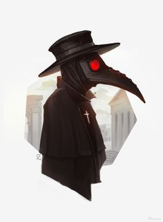 Apollo did nothing to cure the plague in Rome. As the god of healing, he had the power to cure the plague which reminded me of a plague doctor. Plauge Doctor, Doctor Drawing, Plague Doctor Mask, Black Plague Doctor, Black Plague Mask, Plague Dr, Doctor Tattoo, Scp 049, Mask Drawing