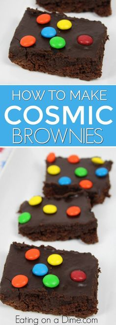 Your kids will go crazy over this Copycat Cosmic Brownies recipe. They are just like the store bought version but better! The chocolate icing for brownies is amazing. Try this cosmic brownie recipe. Cosmic Brownies Copycat recipe is so yummy! #bestbrownies #cosmicbrownies #eatingonadime