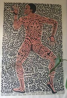Keith Haring, intro 84, affiche. Estimation et expertise
