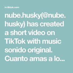 nube.husky(@nube.husky) has created a short video on TikTok with music sonido original. Cuanto amas a los perritos?❤ Tik Tok, Videos, Husky, The Creator, The Originals, Create, Clouds, Dogs, Husky Dog