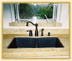 Sill Granite Sink : Bowl Black Granite Composite Sink - Granite Composite - Sinks ...