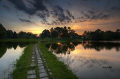 Photograph pathway accros the lake by Mohd Hisham Ahmad on 500px