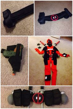 Kid deadpool costume google search knights room pinterest kids deadpool costume diy utility belt from nylon belt material elastic velcro dollar cell phone holder and accessories solutioingenieria