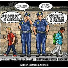 Biased deputies, corruption and privilege for the rich and white people. This isn't justice America! Think! investigate and you will see that justice is NOT equal for everybody! Nauseating!