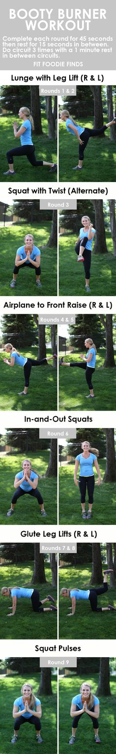 Burn dat booty with this bodyweight workout that mixes lower body and plyometrics for the ultimate burn!