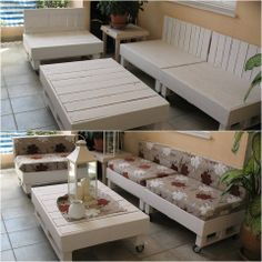 Lindos móveis com paletes.
