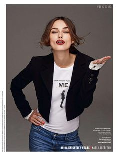 Keira Knightley wearing Karl Lagerfeld by Mariano Vivanco for Elle UK March 2015