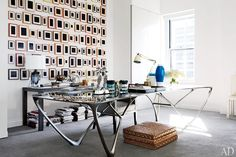 Reed Krakoff's New York city office. Photo by Joshua McHugh. From Architectural Digest.