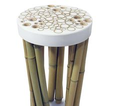 Stool from the Bamboo Cell collection by Fanson Meng. Concrete Furniture, Bamboo Furniture, Cheap Furniture, Home Furniture, Furniture Design, Furniture Movers, Furniture Stores, Bamboo Art, Bamboo Crafts