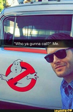 This is my favorite thing. <<< Fuck the Ghostbusters, gimme the Winchester brother's! Castiel, Supernatural Fans, Supernatural Drawings, Jensen Ackles Supernatural, Supernatural Wallpaper, Dean Winchester, Winchester Brothers, Fangirl, Ange Demon