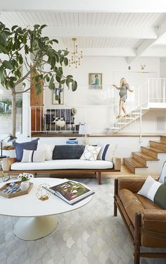 Living Room - Midcentury Modern - Emily Henderson - Home Makeover - Good Housekeeping