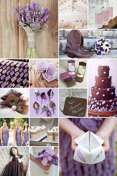 Light Brown and Purple Weddings - like this lighter shade of purple on the bridesmaid dresses