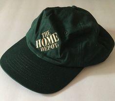 f6550997ed4 GREEN HOME DEPOT HAT TRUCKER BASEBALL CAP ADJUSTABLE SNAPBACK  KC   BaseballCap