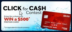Win A $500 Prepaid Credit Card! Expires:  February 28, 2015   Eligibility:  All countries 18+ Click to enter!