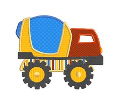 Cement Mixer Construction Truck Vehicle Individual by SewWithLisaB