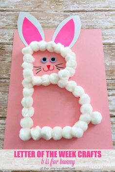 easter crafts for toddlers ~ easter crafts . easter crafts for kids . easter crafts for toddlers . easter crafts for adults . easter crafts for kids christian . easter crafts for kids toddlers . easter crafts to sell Preschool Letter B, Alphabet Letter Crafts, Abc Crafts, Daycare Crafts, Bunny Crafts, Alphabet Activities, Easter Crafts For Kids, Toddler Crafts, Preschool Activities