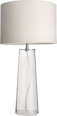 Pyramid Table Lamp  Mirrored and White  47cm  Lamps Tables and