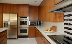 Love the cabinets and simple pulls.  Cabinets are original to the mid-century home.