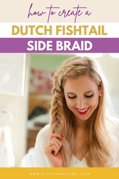 Have you ever heard of a Dutch fishtail braid? I know it sounds complicated, but it's not! If you use my step by step hairstyle tutorial, you'll be able to create this easy hairstyle in seven minutes or less! Perfect for those days you want an easy hairstyle but need it out of your face! #howtobraid #dutchfishtailbraid #stepbystep #hairstyletutorial