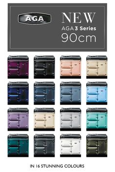 The new AGA 3 Series is available in a choice of 16 gorgeous colours.